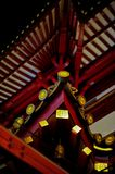 Chinese Temple's Curved Roof Stock Photography