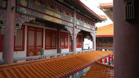 Chinese temple scene in Thailand. Panning shot stock footage
