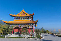 Chinese temple at Shangrila Stock Image