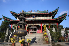 Chinese temple in Sheung Shui Royalty Free Stock Image