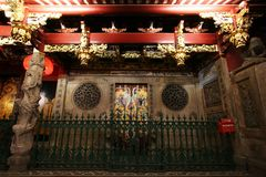 Chinese temple in Singapore Stock Image