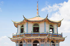 Chinese temple. Chinese style temple with blue sky in Kanchanaburi Thailand Royalty Free Stock Images