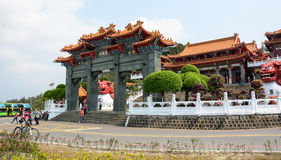 Chinese temple in Sun Moon Lake, Taiwan. Chinese temple located in Sun Moon Lake, Taiwan. Sun Moon Lake is the largest body of water in Taiwan as well as a stock images