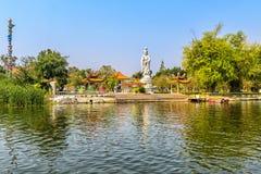 Chinese Temple Tha Ma Kham next to the Bridge Over the River Kwai, Kanchanaburi. Tailand Royalty Free Stock Image