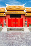 Chinese Temple in Thailand against blue sky. Royalty Free Stock Photo