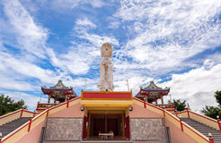 Chinese temple in Thailand  under the blue sky and big  cloud ( Royalty Free Stock Photos