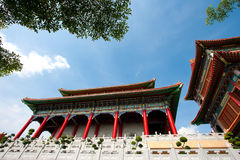 Chinese temple, Thailand. Chinese temple, Wat Leng-Noei-Yi against blue sky in Nonthaburi province, Thailand Stock Image