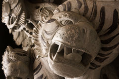 Chinese temple tiger statue Royalty Free Stock Images