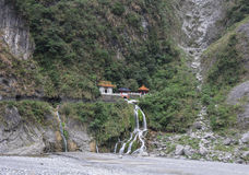 The Chinese temple at Toroko National Park in Hualien, Taiwan.  Stock Photography