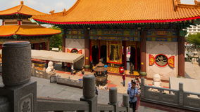 Chinese temple tourist time lapse stock video footage