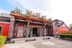 Chinese temple under the blue sky in taiwan Stock Photos