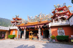 Chinese temple under the blue sky in taiwan Stock Image