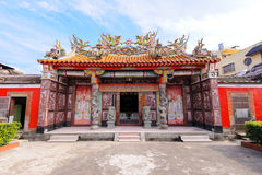 Chinese temple under the blue sky in taiwan Royalty Free Stock Photo