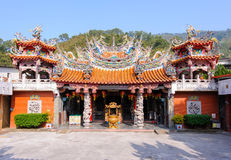 Chinese temple under the blue sky in taiwan Stock Photo