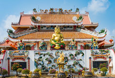 Chinese temple under blue sky in Thailand, They are public domai Stock Image