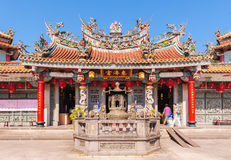 Chinese temple under the blue sky Stock Photos