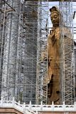 Chinese Temple under Construction. Image of a massive Chinese temple with a giant Goddess of Mercy Statue under construction in Malaysia Stock Photo