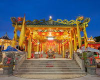 Chinese Temple at The Vegetarian Festival in Phuket, Thailand. royalty free stock image