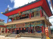 Chinese Temple of Viharn Sien In Pattaya Stock Photography