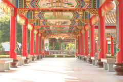Chinese temple walk way Royalty Free Stock Image