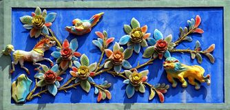Chinese Temple Wall Decoration Royalty Free Stock Photography