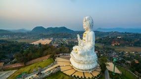 Chinese temple wat Hyua Pla Kang in Chiang Rai north of Thailand. Royalty Free Stock Images