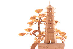 Chinese Temple Wooden Model Royalty Free Stock Photo