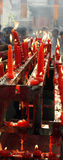 Chinese Temples. People burn incense and burning red candle royalty free stock photos