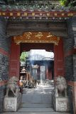 Chinese temples on mount tai Stock Images