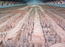 Chinese terra cotta warriors Stock Photo