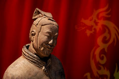 Chinese terracotta warrior. Of Qin Shi Huang Di Royalty Free Stock Images