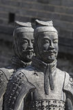 Chinese terracotta warriors. Statues ancient Chinese terracotta warriors Stock Photo