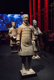 Chinese terracotta warriors at Moesgaard Museum, Aarhus, Denmark Royalty Free Stock Photography