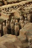 Chinese terracottastrijders Stock Afbeeldingen