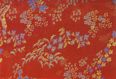 Chinese Textile Background Royalty Free Stock Images