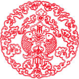 Chinese texture. The red chinese pattern for the festival Royalty Free Stock Photography