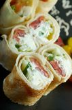 Chinese or Thai-style  spring rolls Stock Photography