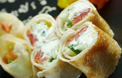 Chinese or Thai-style  spring rolls Royalty Free Stock Image