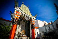 Chinese theater. Close up Los Angeles Stock Photos