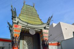 Chinese Theater in Hollywood Boulevard, Los Angeles royalty free stock photo