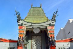 Chinese Theater in Hollywood Boulevard, Los Angeles royalty free stock images