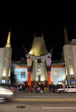 Chinese Theatre. Night Image of the Grauman Chinese Theatre on Hollywood Boulevard, at Los Angeles California Royalty Free Stock Photo