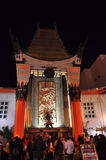 Chinese Theatre. Night image of the Chinese Theatre at Hollywood Boulevard, taken the 30th of December 2011 stock photography
