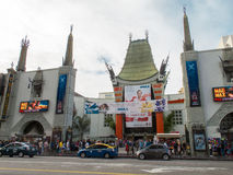 Chinese Theatre in Hollywood. LOS ANGELES, USA - MAY 2015 Chinese Theatre in Hollywood royalty free stock image