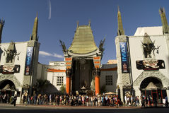 Chinese Theatre. In Hollywood Walk of Fame stock image