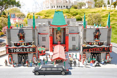 Chinese Theatre at Legoland. California Mini Land Attraction royalty free stock photography