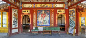 A chinese theatrical stage. There is a old theatrical stage in a small town,in dali city,Yunnan province Royalty Free Stock Images