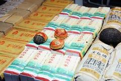 Chinese thee in marktplaats Stock Fotografie