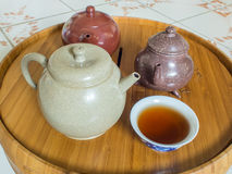 Chinese Theepot op theepottribune Royalty-vrije Stock Foto