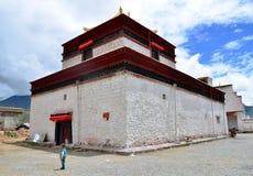 Chinese Tibet monastery. Here is located in the China Tibet Shannan Prefecture Samye monastery Stock Images